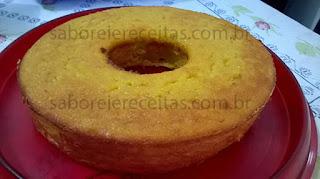 Foto do bolo de milho sem fermento e sem farinha de trigo - Paulo Augusto Sebin