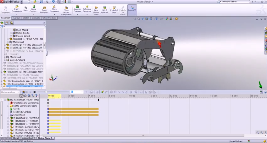 Examples of 3D How to make the program Motion Simulation