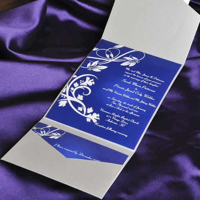 Cheap Purple Wedding Invitations Kits