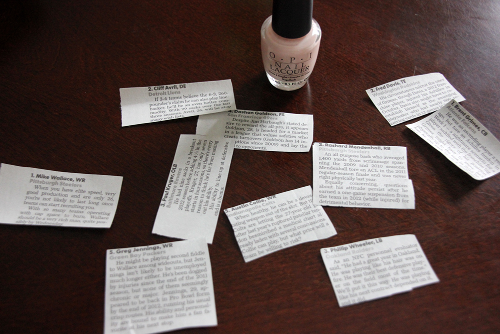 DIY: Newspaper Nails | Rainstorms and Love Notes