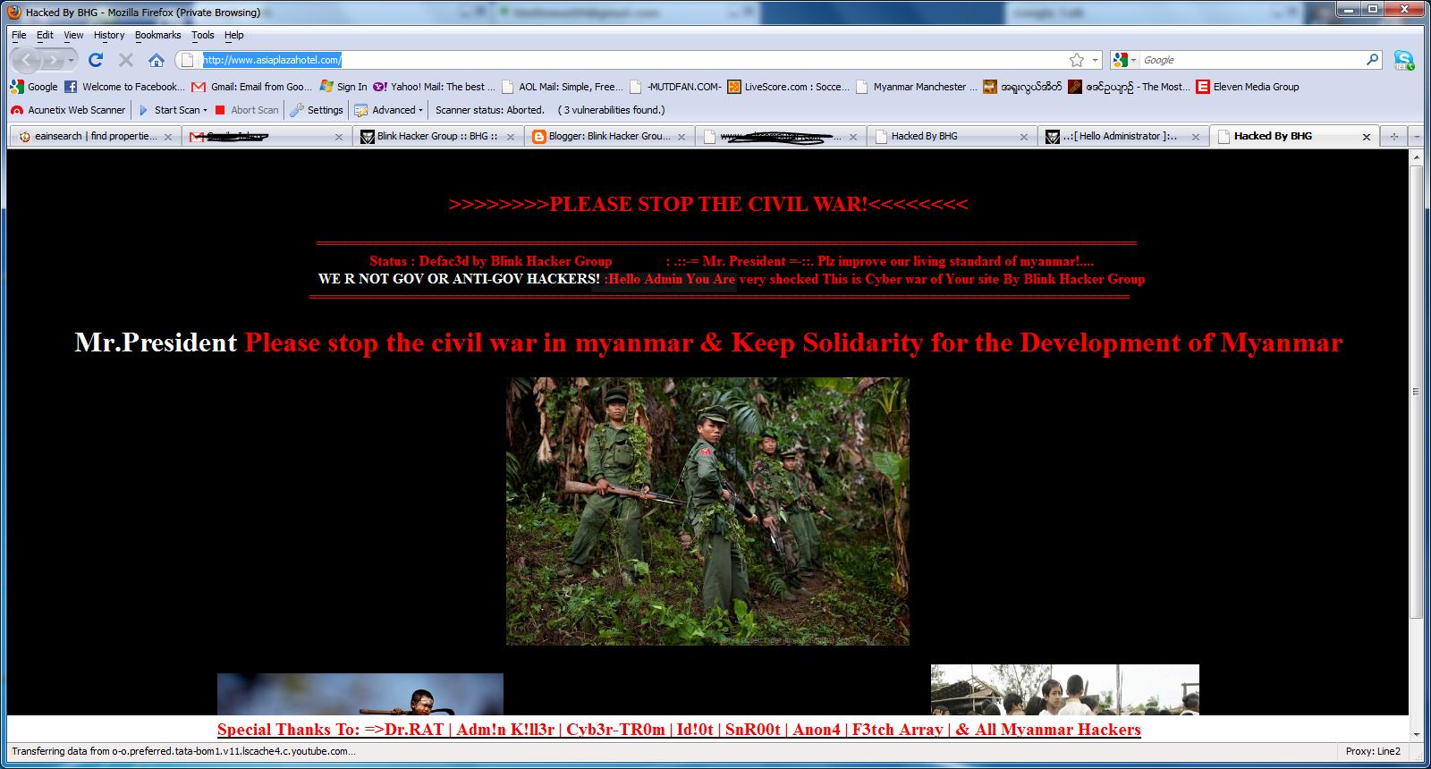 Blink Hacker Group: Hacked Asia Plaza Hotel Website