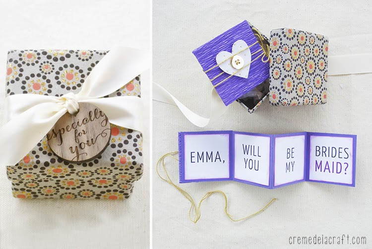 Diy Will You Be My Bridesmaid Gift Box Free Printable