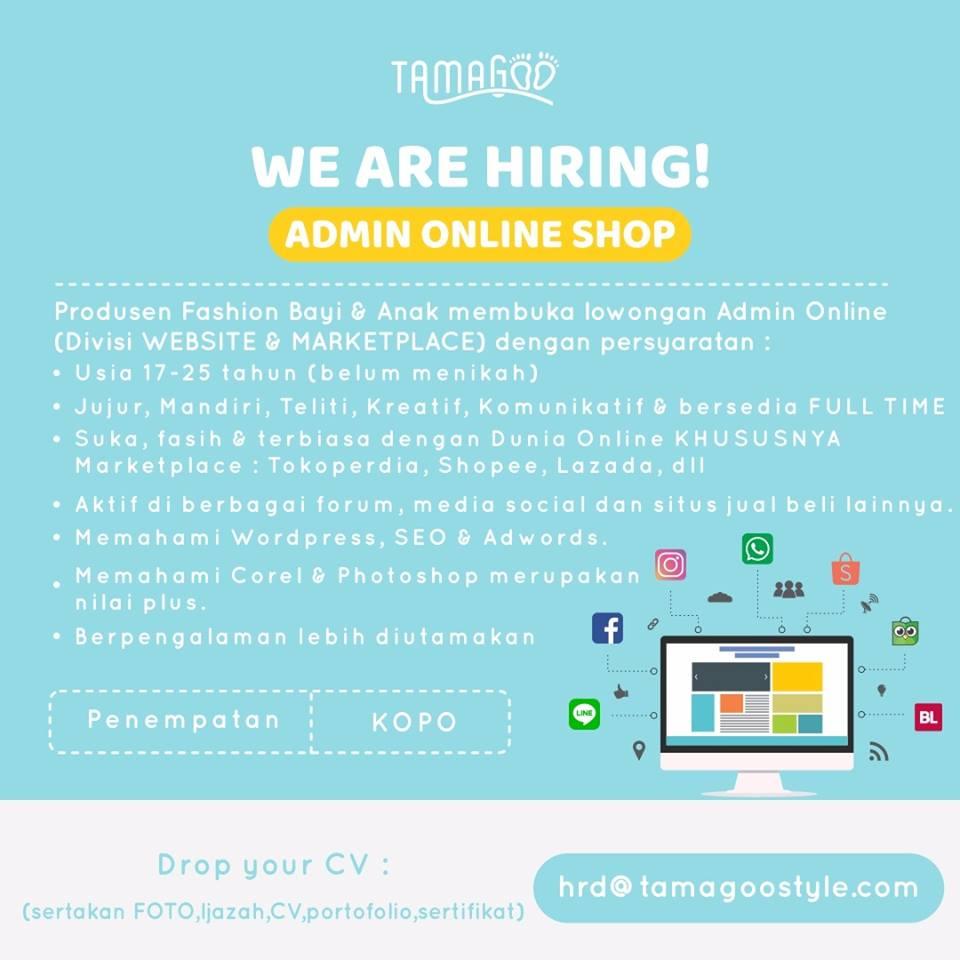 Lowongan Admin Tamagoo Style Lowongan Kerja Terbaru Indonesia 2020
