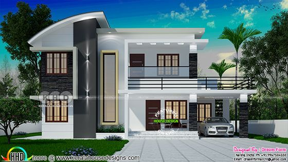 1991 square feet 4 bedroom modern house plan