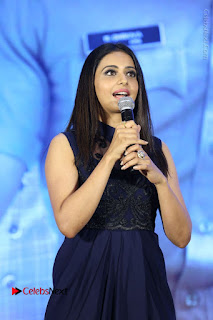 Actress Rakul Preet Singh Stills in Beautiful Blue Long Dress at Dhruva Salute to Audience Event  0062.JPG