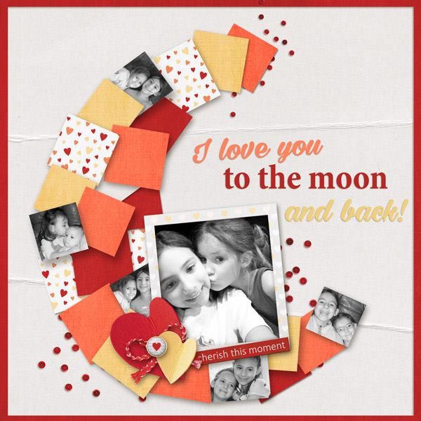 Sun Moon and Stars Digital Scrapbooking template