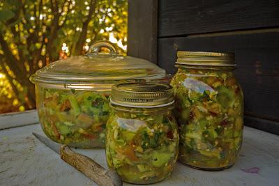 pomodori verdi in barattolo
