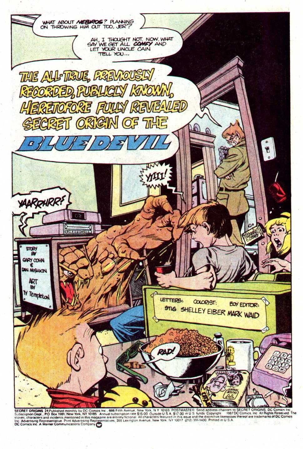 Read online Secret Origins (1986) comic -  Issue #24 - 3
