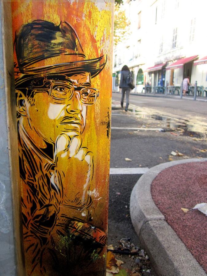 Уличное искусство Кристиана Гуеми (Christian Guémy aka C215) 37