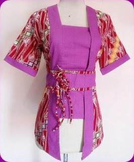Model baju batik untuk kerja fashionable