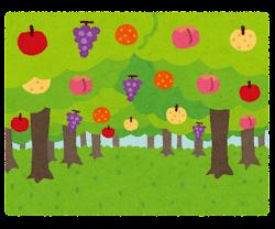 果樹園のイラスト(ミックス)