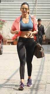 Rakul Preet Singh Hot Photos in Gym Dress Out in Mumbai
