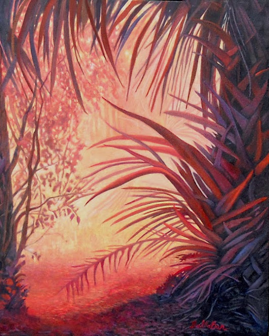 Fond Of Fronds 24x30 oil on canvas