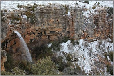 Cascada De La Casa De Los Olmos (Río Trabaque). Vista general