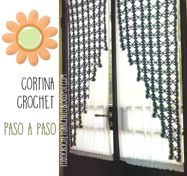 Cortina Ganchillo Patron