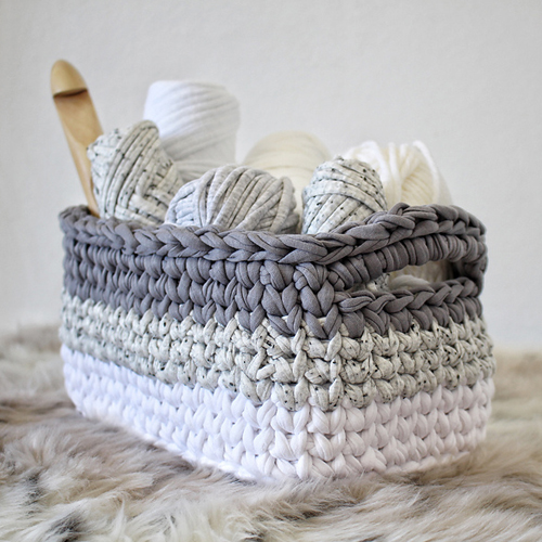 Ombre Rectangle Basket - Free Pattern