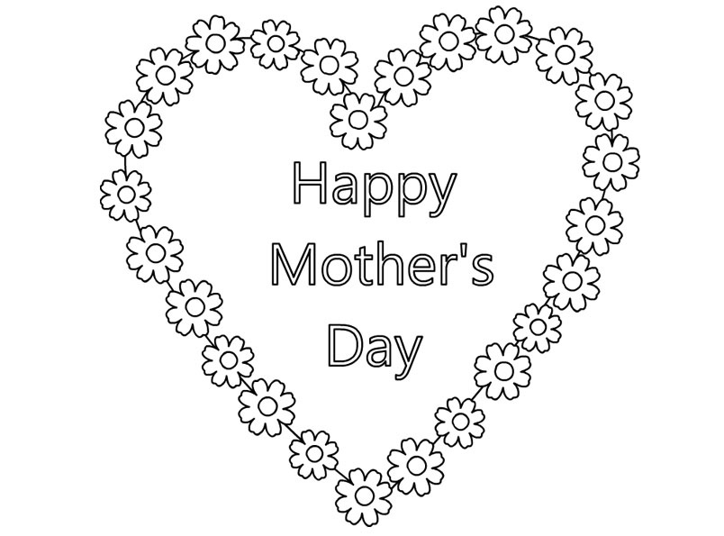 printable mothers day cards for children to colour - Free Mothers Day Coloring Pages 2