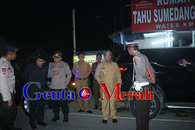 Antisipasi Keamanan, Plt.Bupati Lamteng bersama Kapolres Patroli Jalinsum