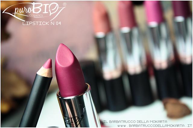 review,  lipstick n 04 ,  rossetti purobio , lipstick, vegan makeup, bio makeup