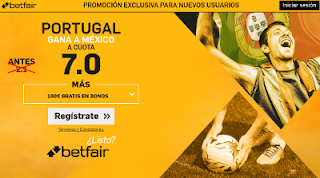 betfair supercuota Copa Confederaciones Portugal gana a México 18 junio