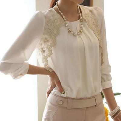 cómo transformar una blusa con encaje