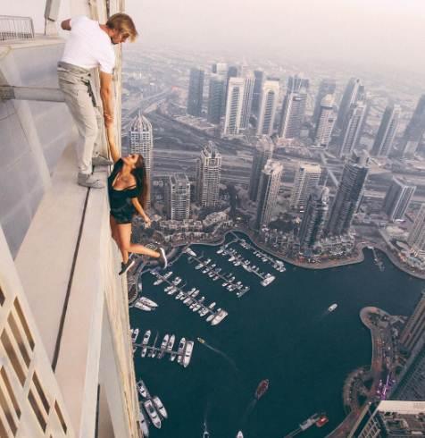 VIKI ODINTCOVA rusoaica cascadorii live Dubai