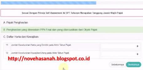 isikan bagian C dari formulir SPT 1770SS untuk PNS yang diberikan oleh djponline.pajak.go.id