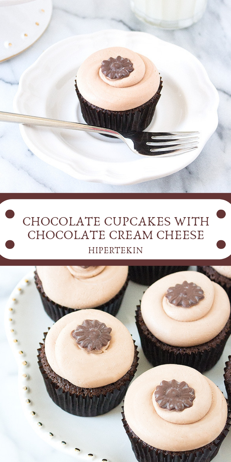 CHOCOLATE CUPCAKES WITH CHOCOLATE CREAM CHEESE