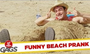 Beach Army, Superman Kid and Disappearing Girl Pranks