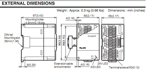 การใช้งาน Module FX2N4AD (Analog Input Module of PLC