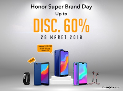 HONOR Indonesia Diskon Besar di Shopee Super Brand Day