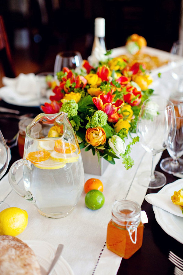 Deborah Amp Ernest S Wedding Day The Theme Tropical Citrus