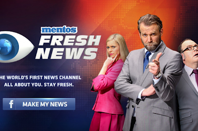 "The Digital Post: Mentos ""Fresh News""- A news report about you"
