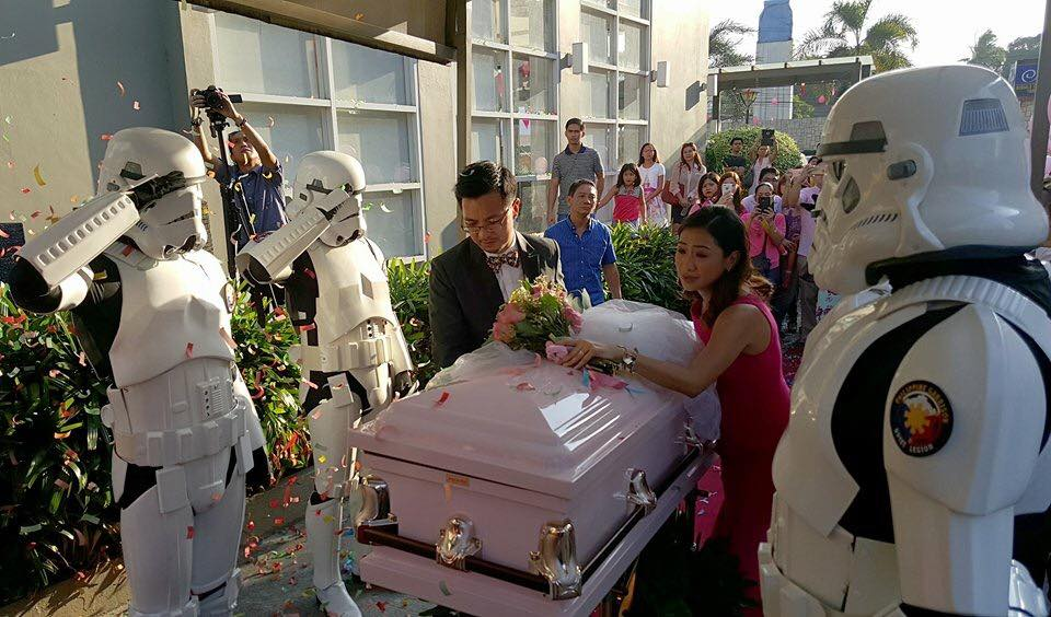 Storm Troopers were Caitie's honor guards
