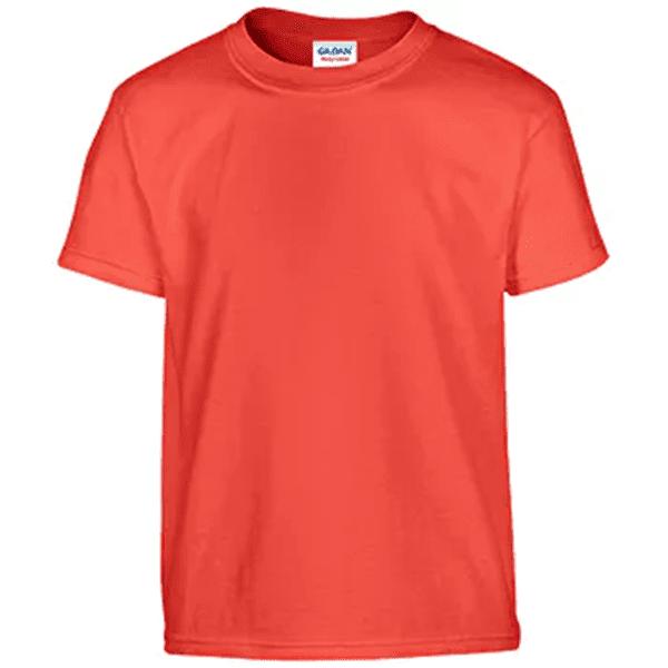 Gildan Irregular Youth T-Shirt - Orange- Large