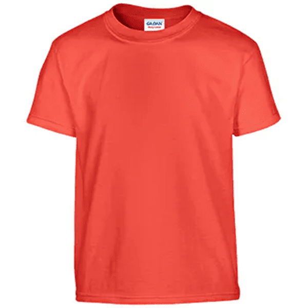 Gildan Irregular Youth T-Shirt - Orange- Large