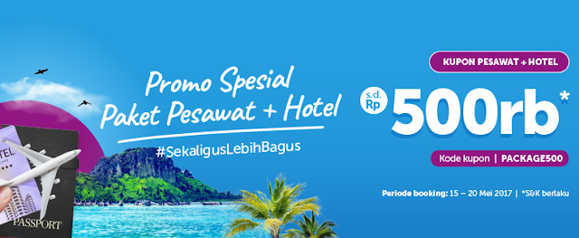 Promo Traveloka Diskon Paket Pesawat dan Hotel