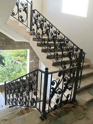 railing besi tempa untuk rumah antik