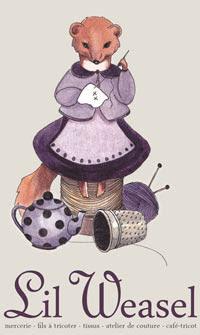 Lil Weasel c est une petite boutique de laines, de tissus, de patrons aussi  , de boutons, de rubans, et d articles de mercerie. eca6d168dbd
