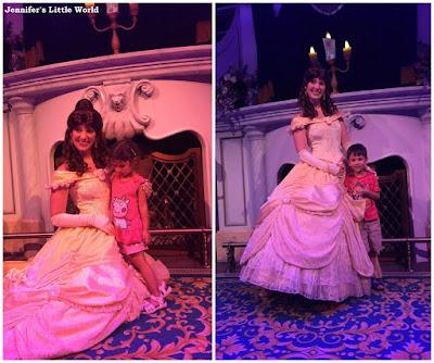 Children meeting Princess Belle