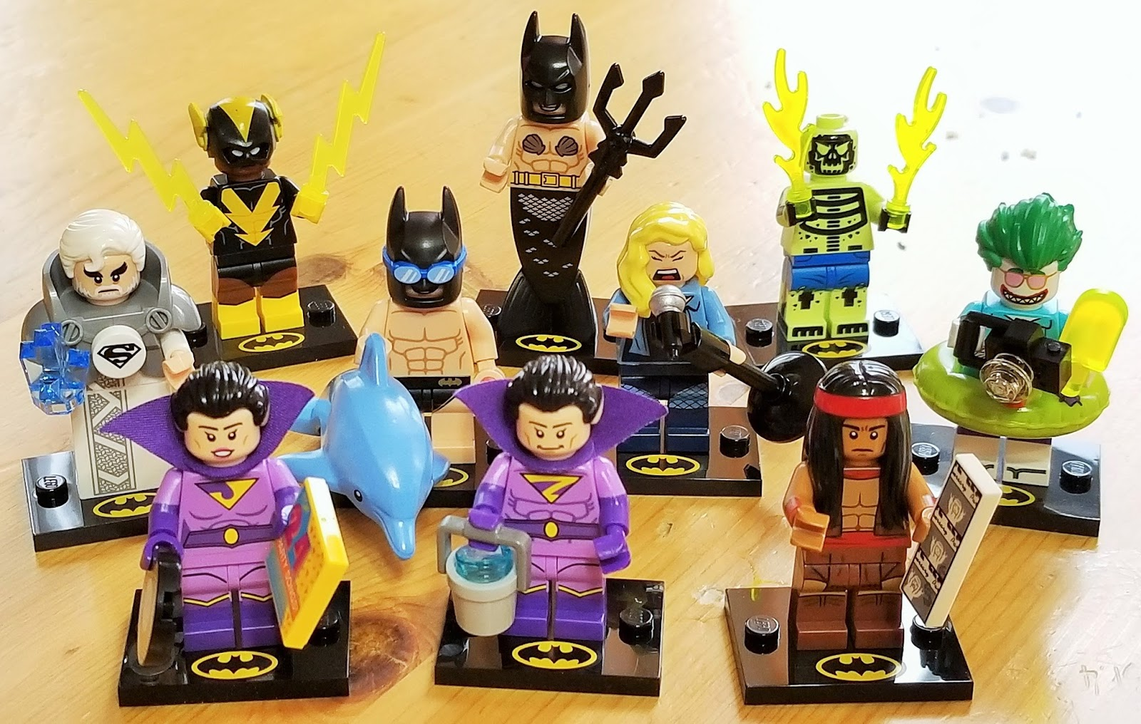 WONDER TWIN ZAN TILE X 1,PARTS New LEGO MINIFIGURES BATMAN SERIES 2
