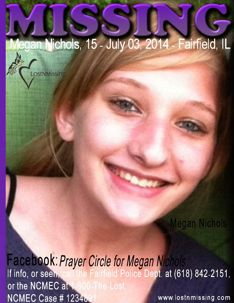Missing 15 Year Old Girl Found: LostNMissing, Inc: Missing: Megan Nichols, 15