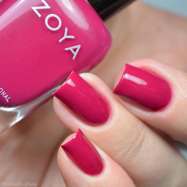bright pink creme nail polish