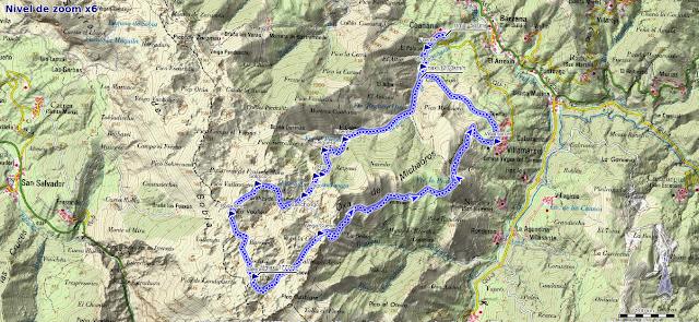 Mapa ruta Peña Saleras