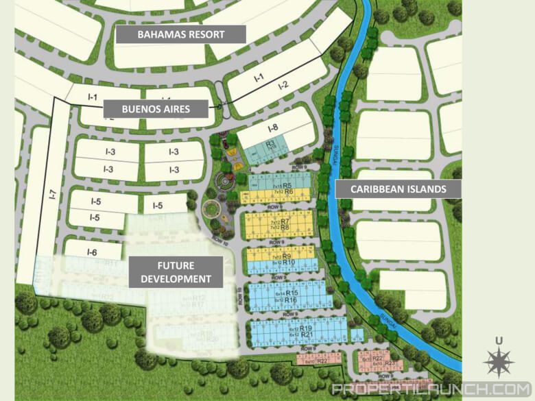 Site Plan Cluster Buenos Park BSD City