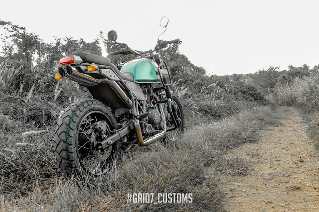 Royal Enfield Himalayan modified by Grid7 Customs