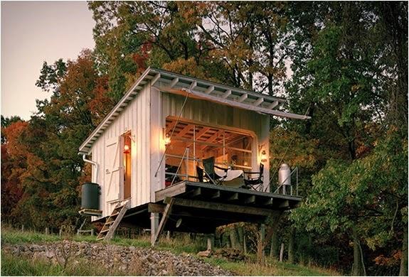 ide model rumah kabin kecil dan sederhana rancangan