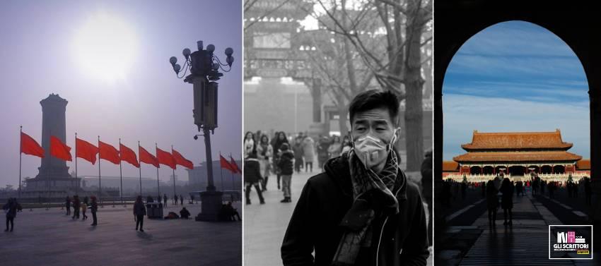 Il monumento ai lavoratori e la Porta della Città Proibita
