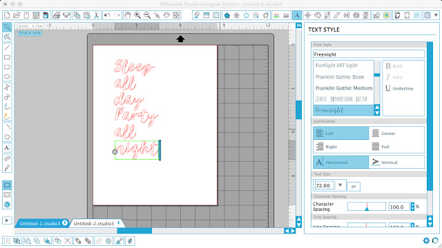 Silhouette Studio, Silhouette tutorial, hand drawn lettering, lettering