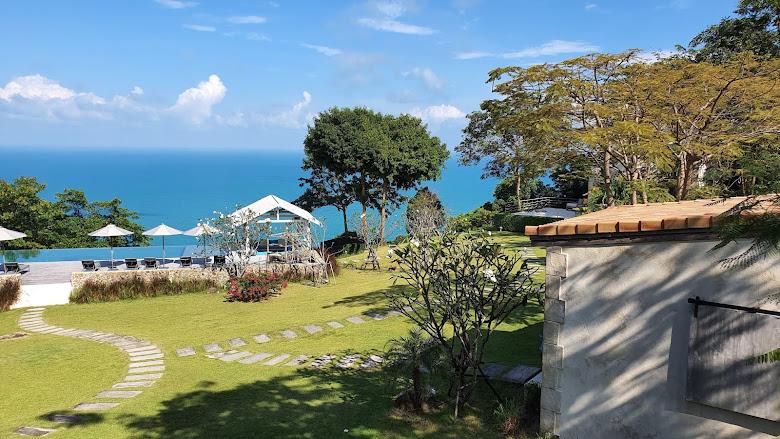別墅內遠眺的海景